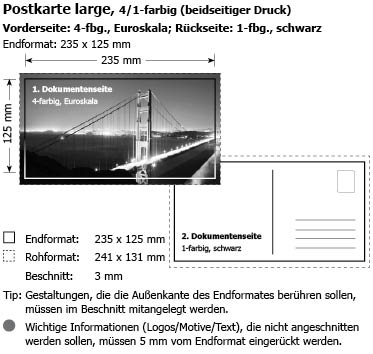 Postkarten LARGE im Digitaldruck