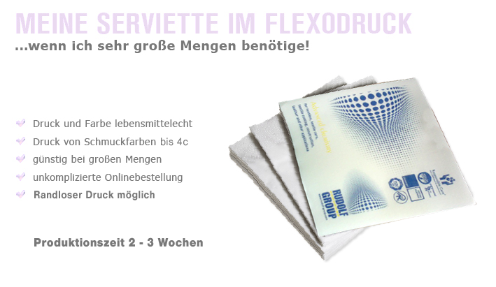 Servietten Flexodruck